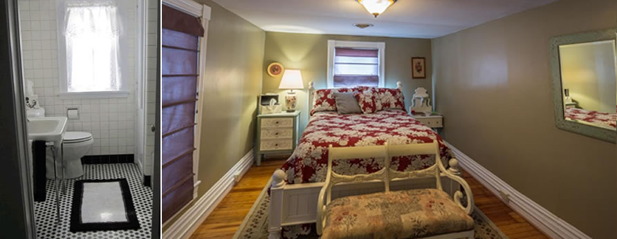 The Red Lantern Inn in historic Clifton Forge Virginia Bedroom and Bath